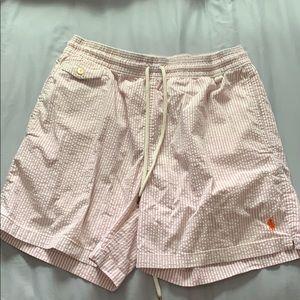 Polo Ralph Lauren pink/white Swim trunks